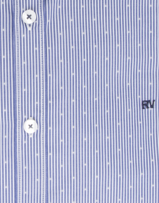 Blue microprint shirt