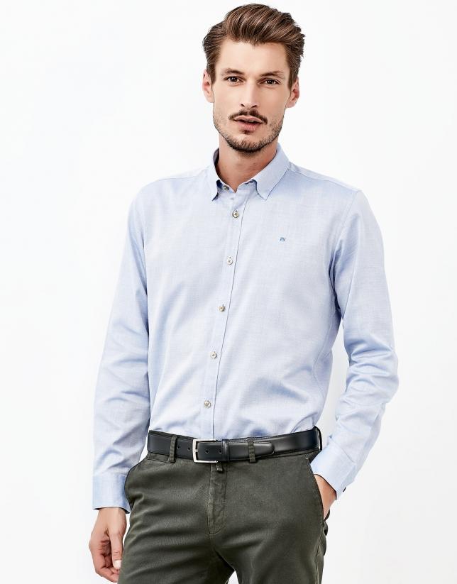 Chemsie bleue faux uni