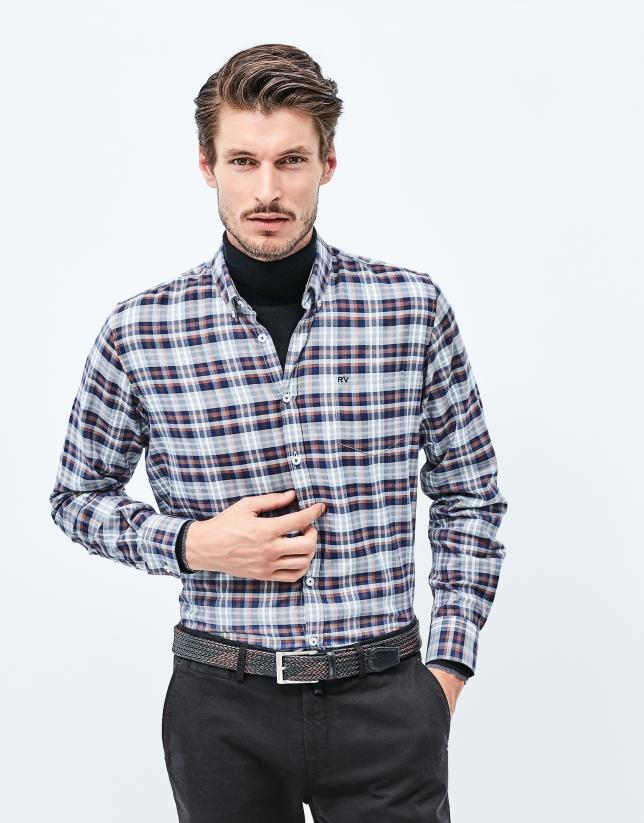 Camisa franela gris