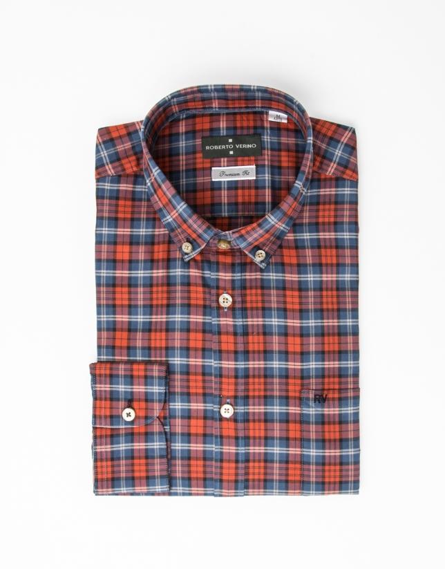 Camisa cuadros rojo/azul