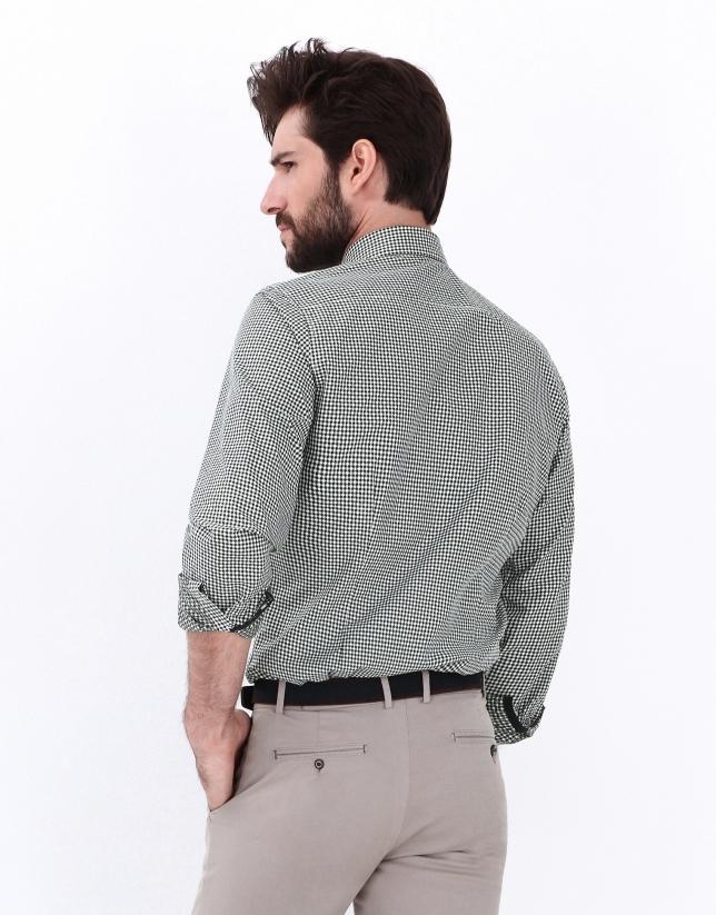 Camisa vichy verde