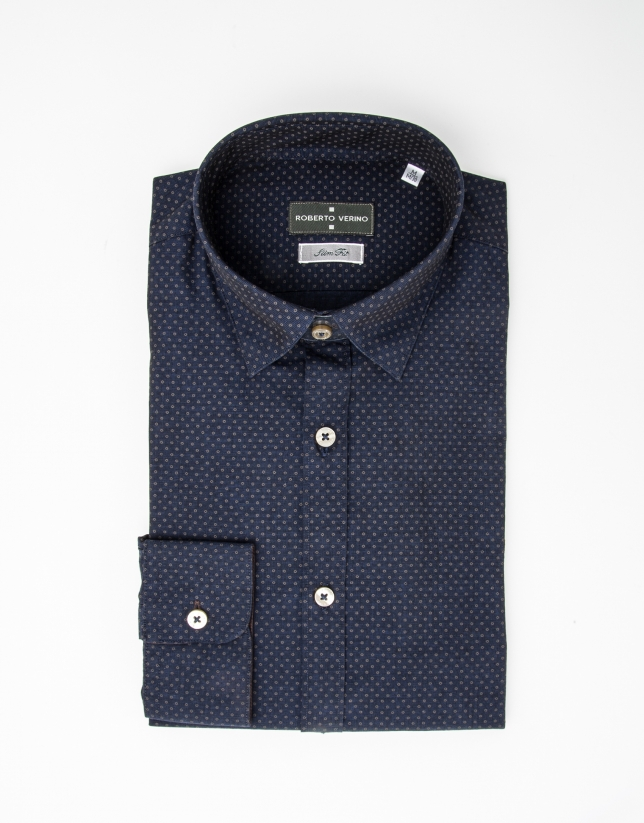Camisa topos azul