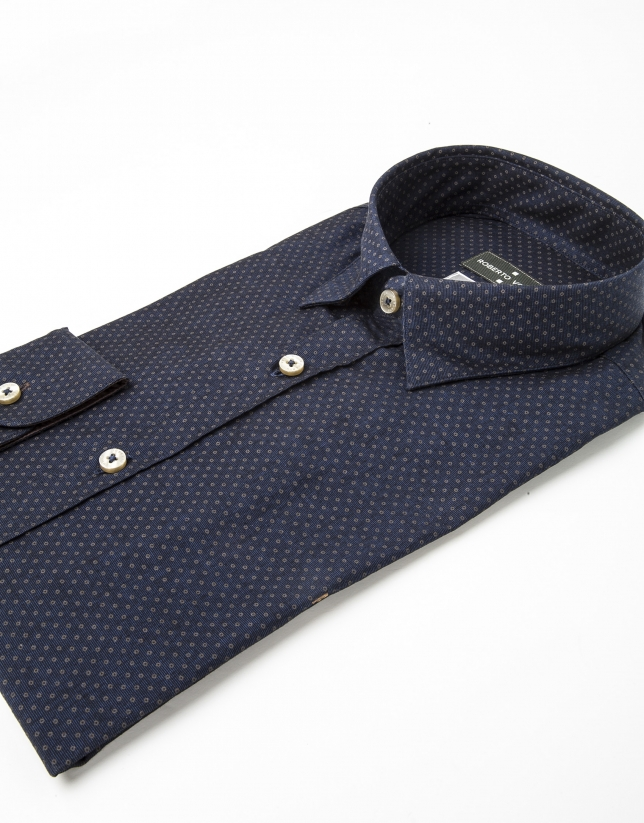 Blue dotted shirt