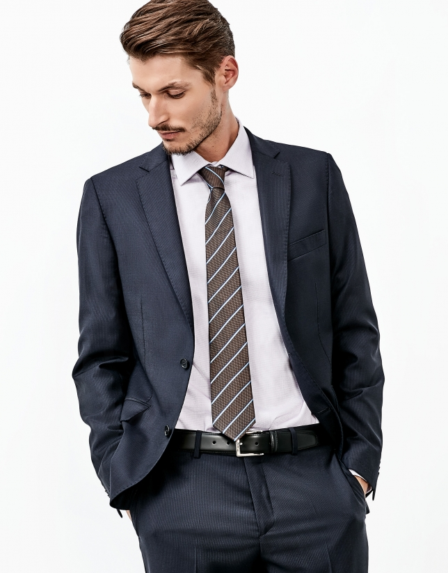 Navy part canvas suit