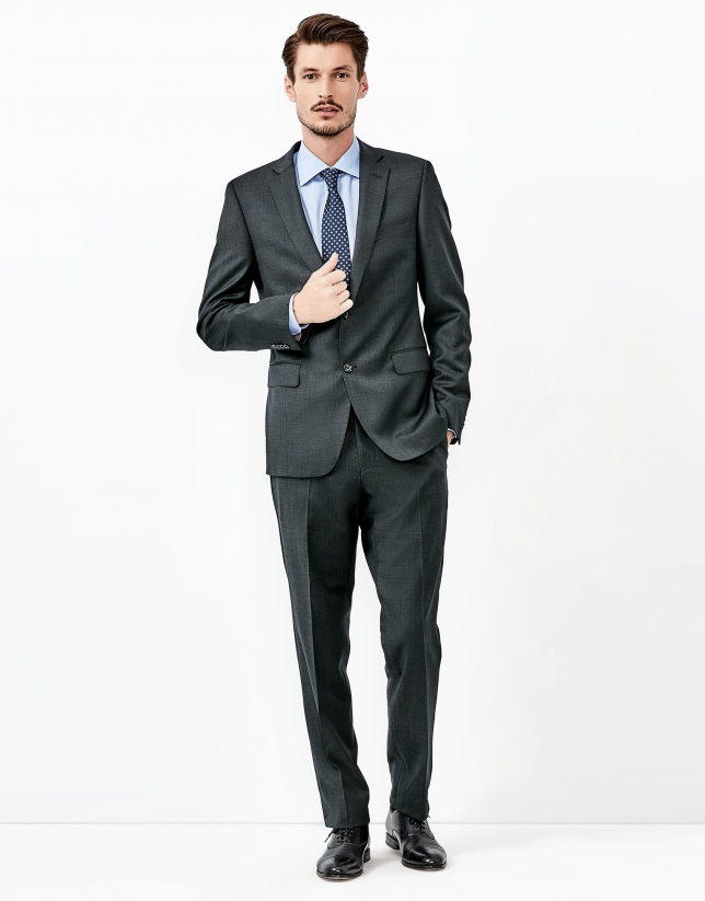 Gray wool suit