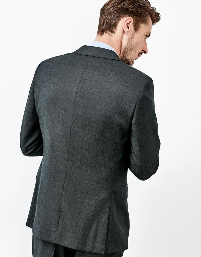 Costume en laine gris
