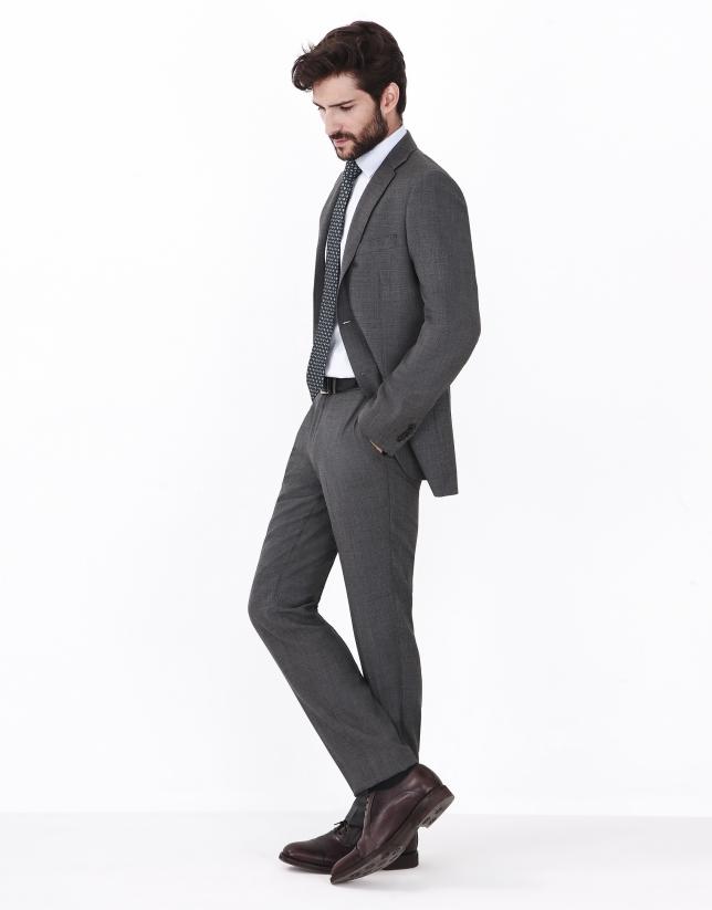 Costume pied de poule gris