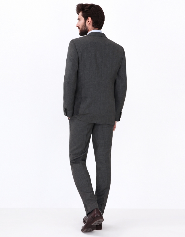 Gray hounds tooth suit