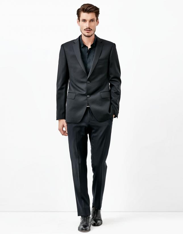 Black wool suit
