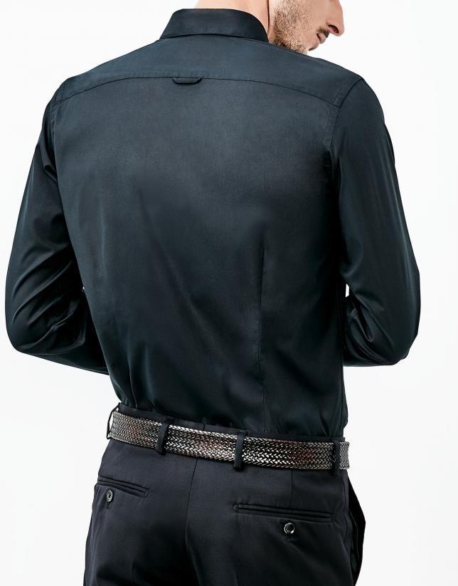 Traje lana negro