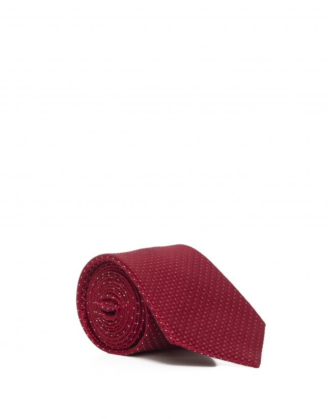Corbata topos roja