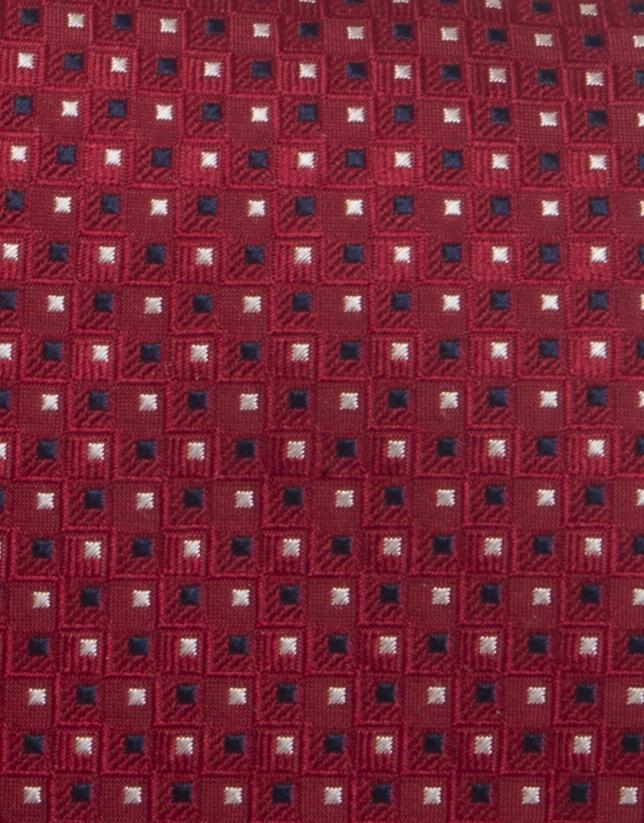 Corbata rombos azul y crudo