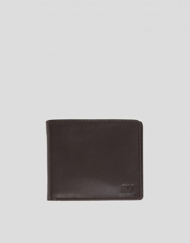 Men's brown leather billfold