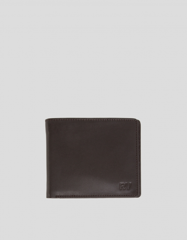 Men's brown leather billfold