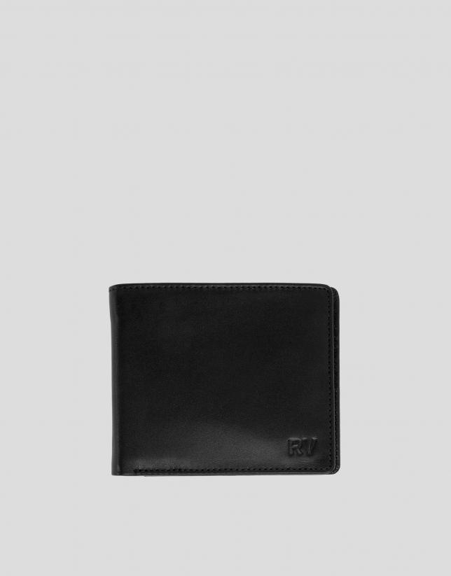 Porte-billets homme en cuir noir