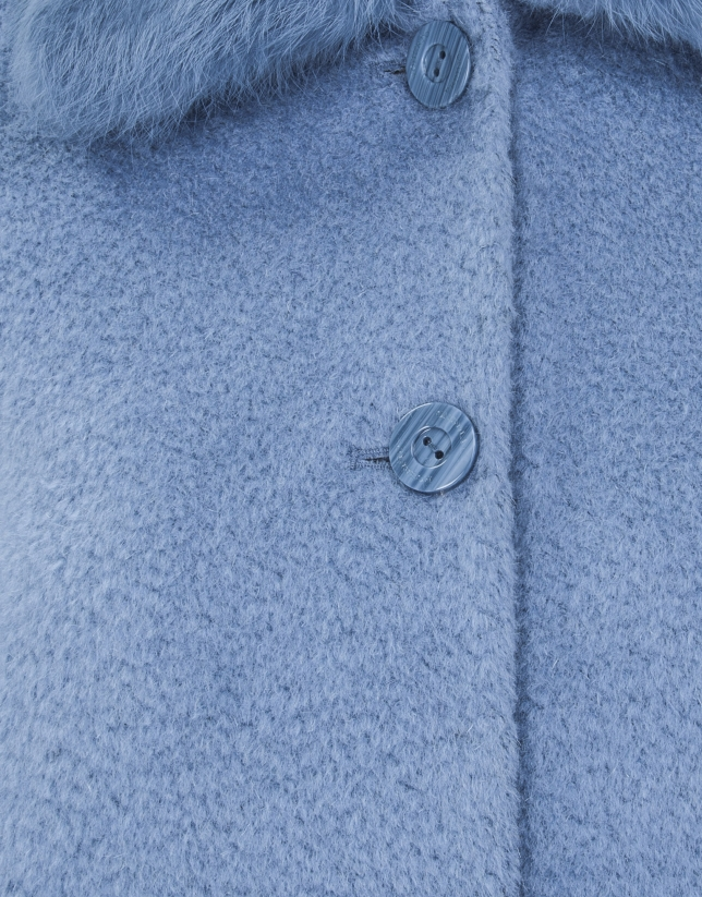 Light blue short coat