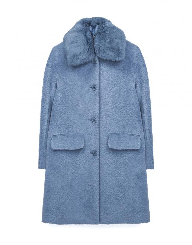 Abrigo corto azul claro