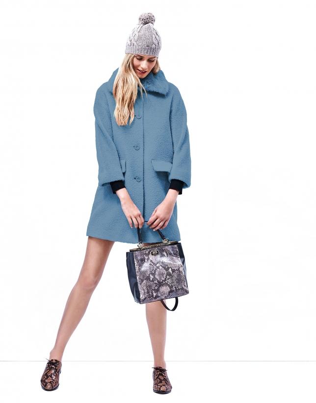 Manteau court bleu clair