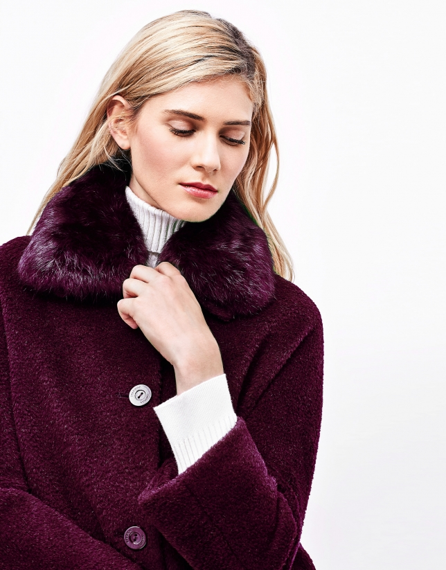 Aubergine short coat