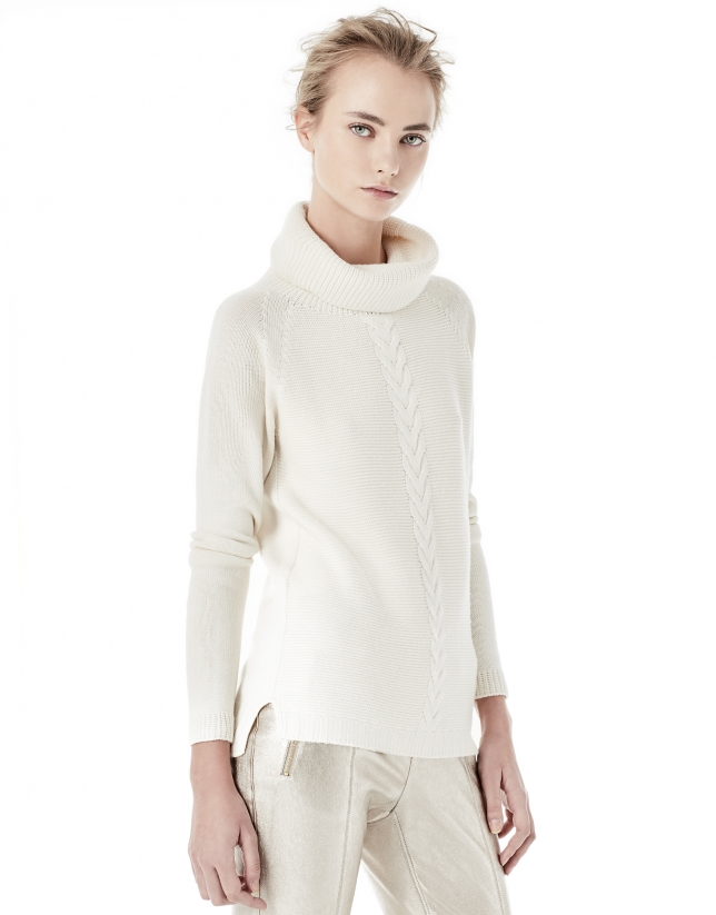 Off white cable stitch sweater