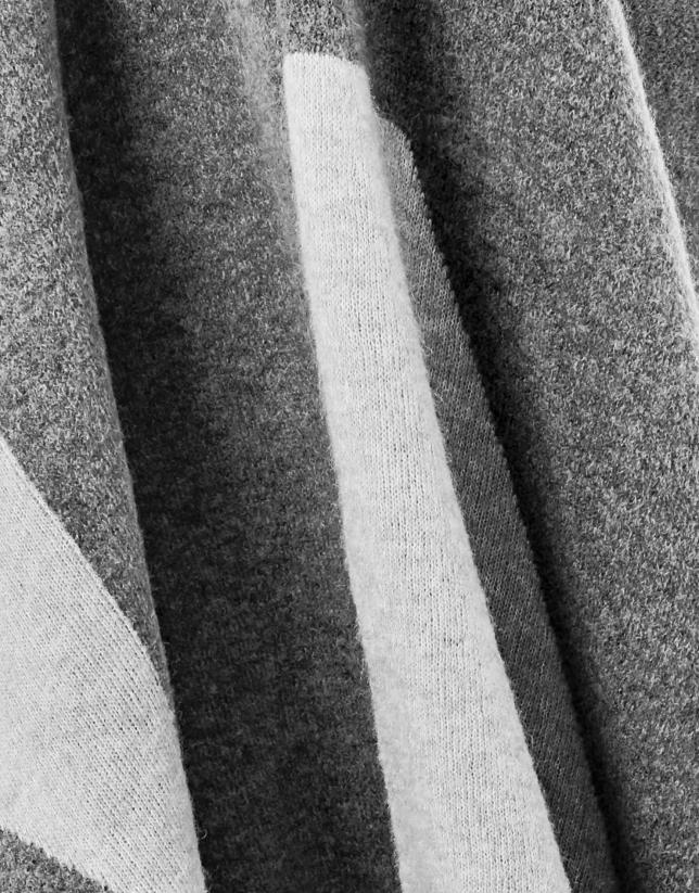 Cape géométrique gris