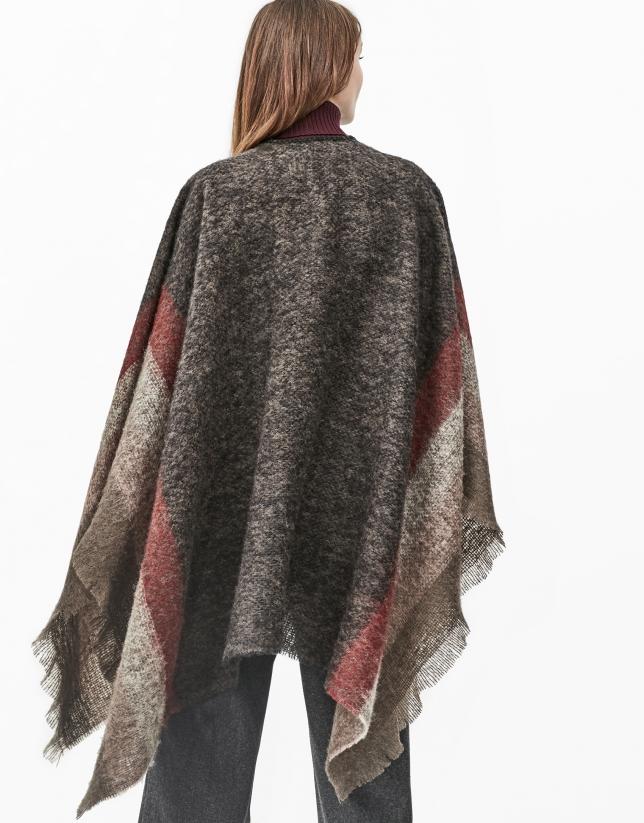 Brown checked cape