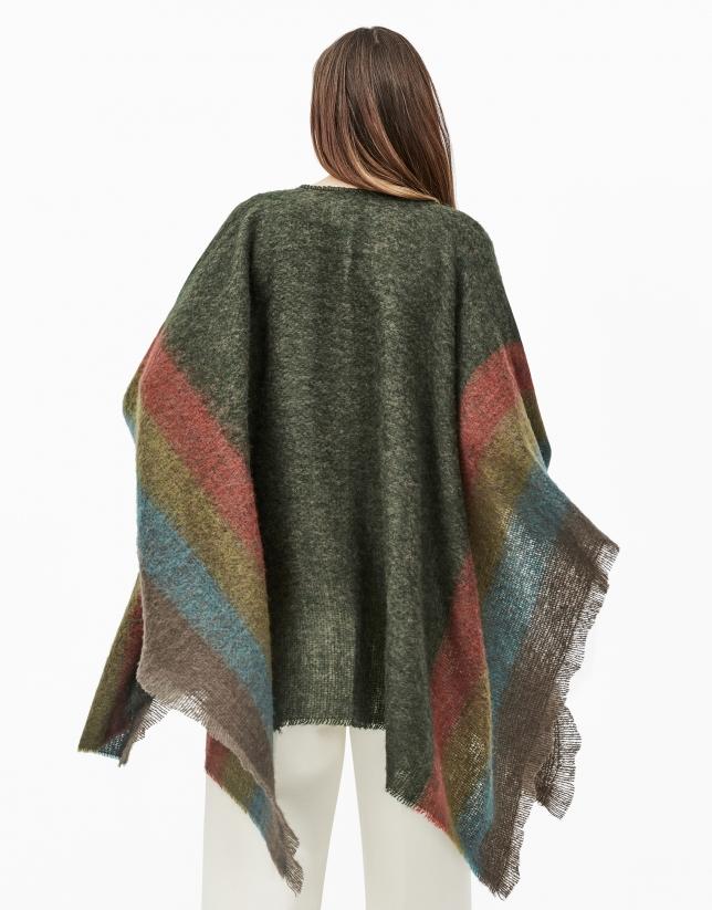 Green checked cape