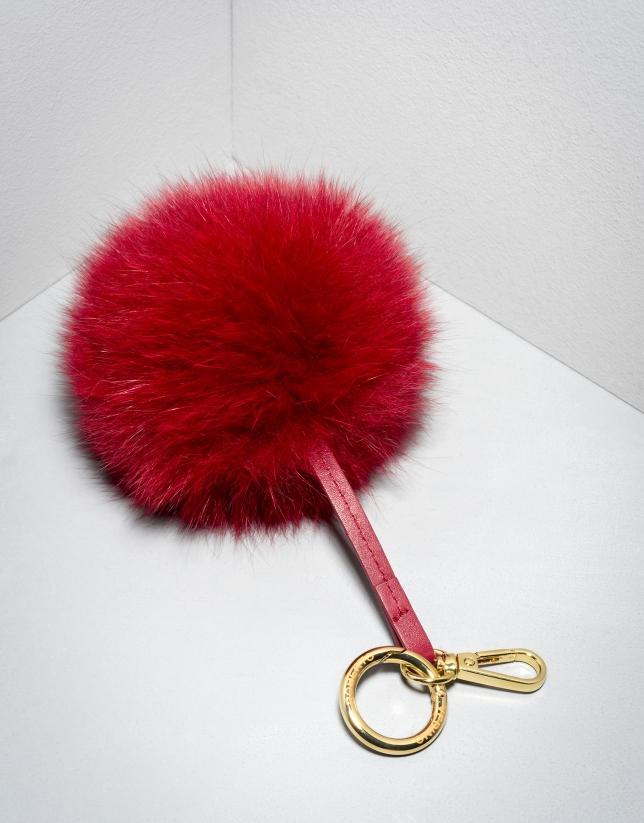 Charm pompon rouge