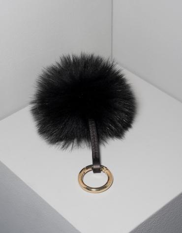 Black pompom charm