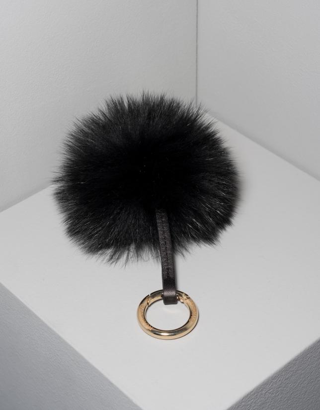 Charm pompon noir