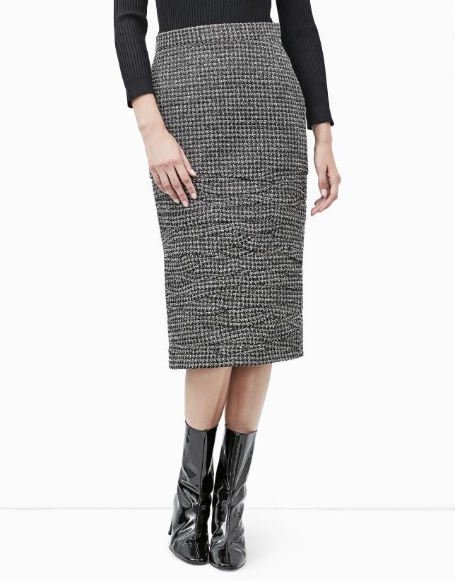 Irregular micro pleated skirt