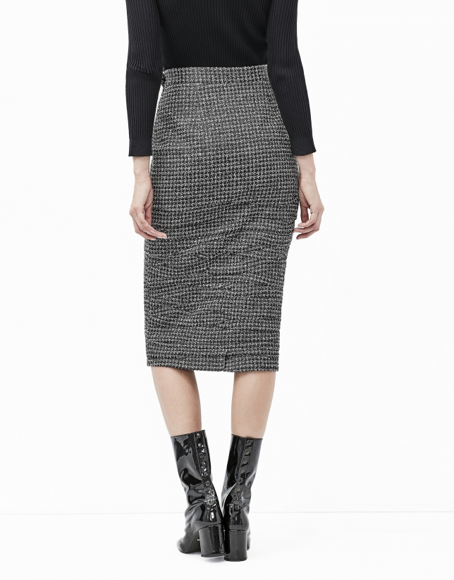Irregular micro pleated skirt