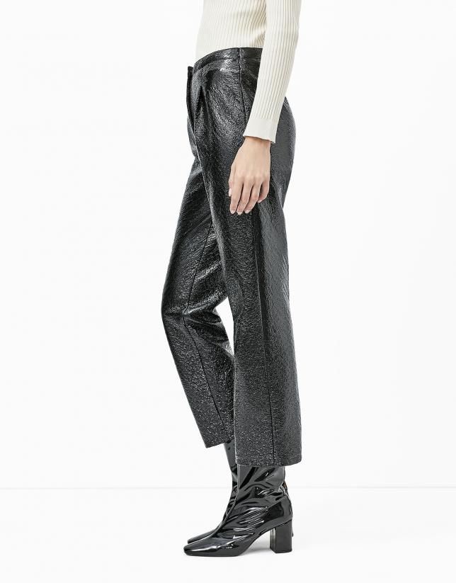 Pantalón baggy grabado coco negro