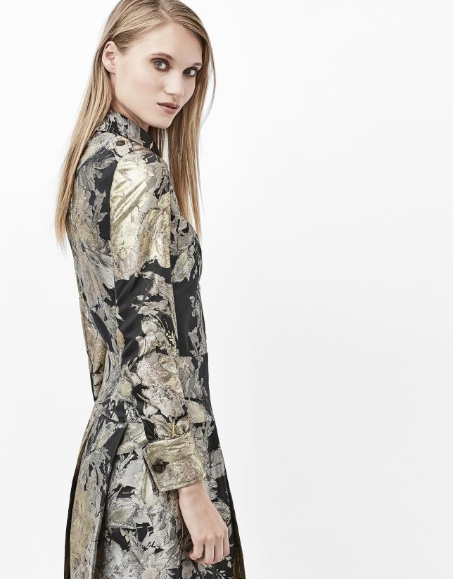 Gilded jacquard dress