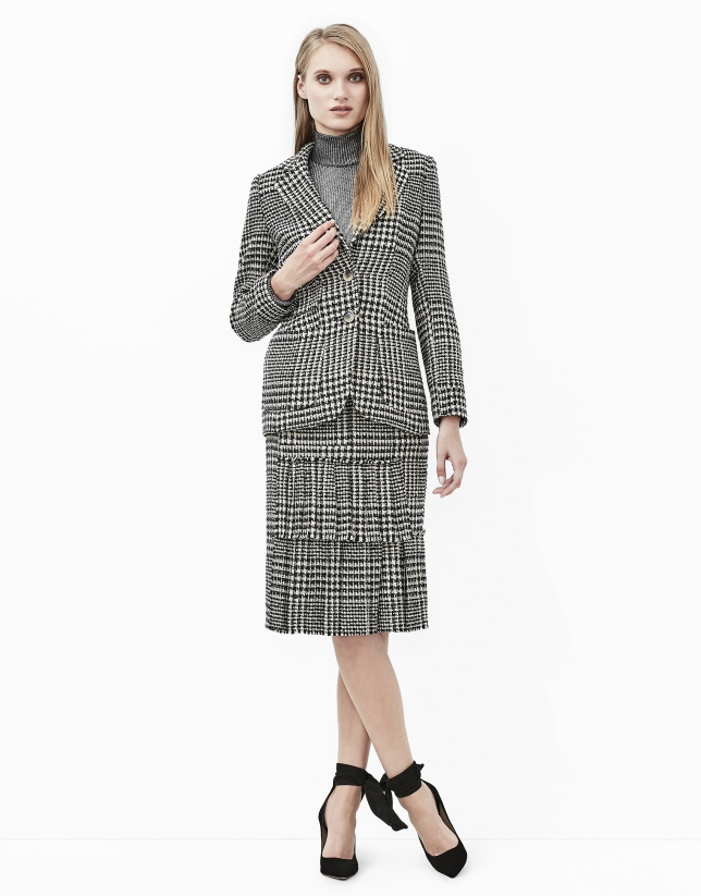 Glen plaid blazer