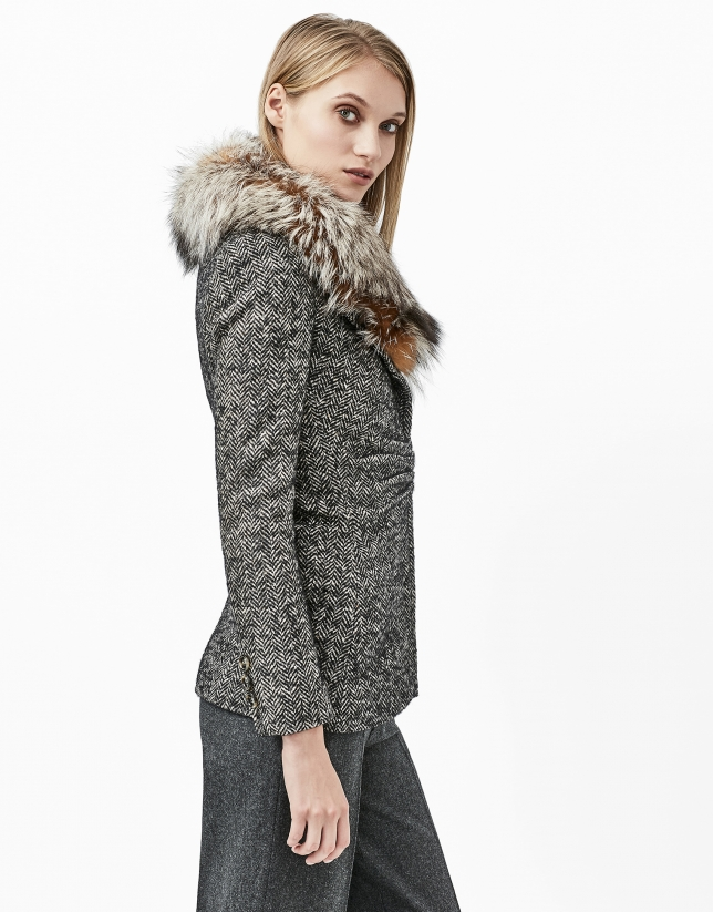 Gray tweed jacket