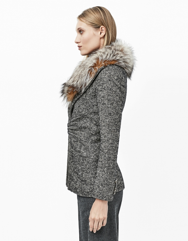 Gray tweed jacket