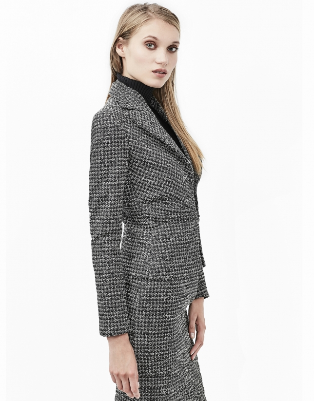 Veste en tweed à plis