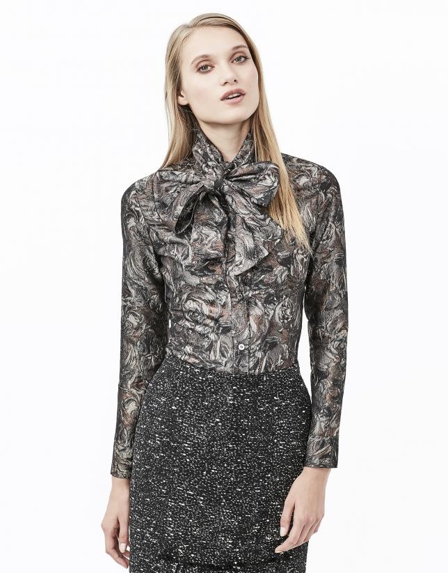 Copper jacquard shirt