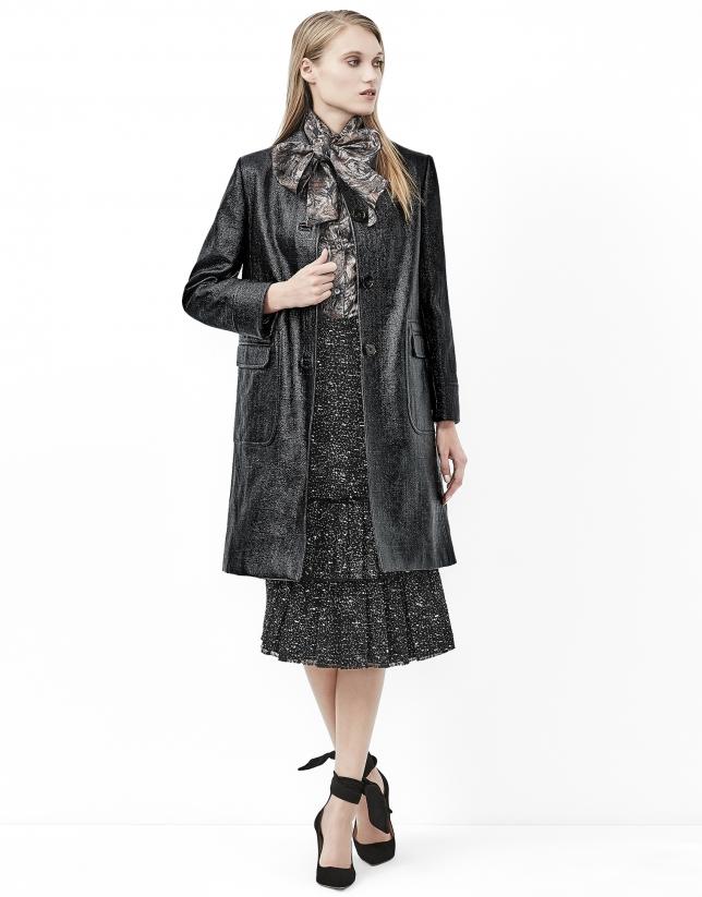 Manteau noir imprimé coco