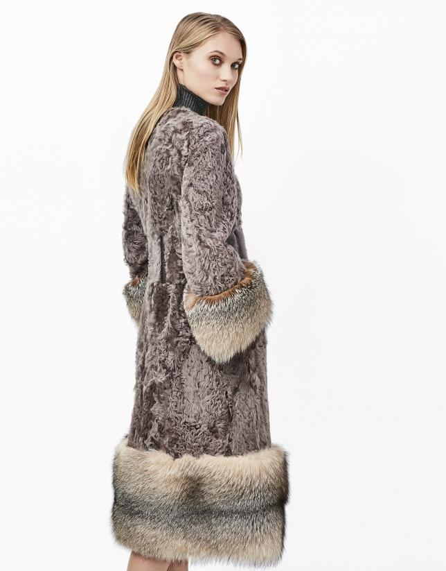 Manteau en cuir d'agneau