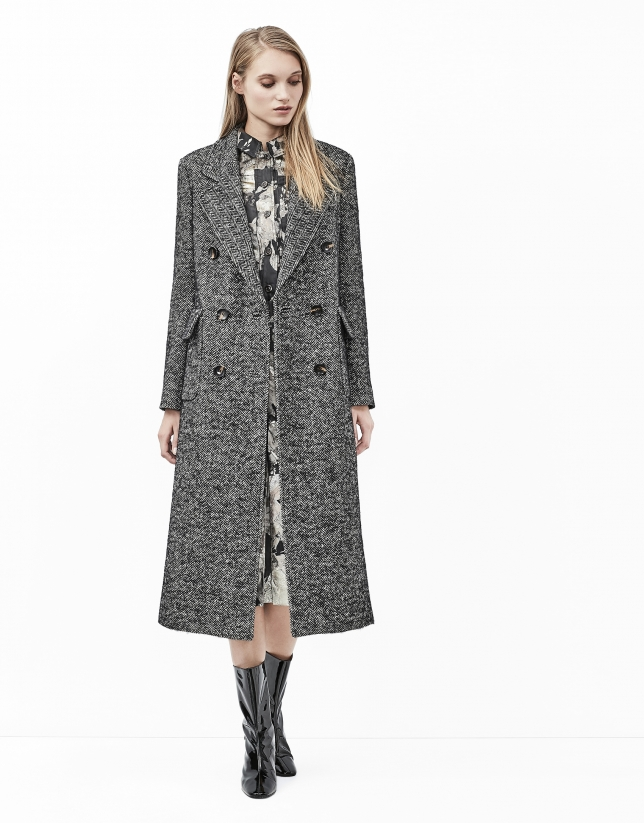 Gray tweed coat