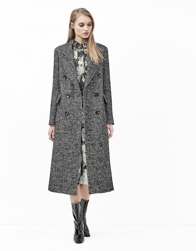Manteau gris en tweed