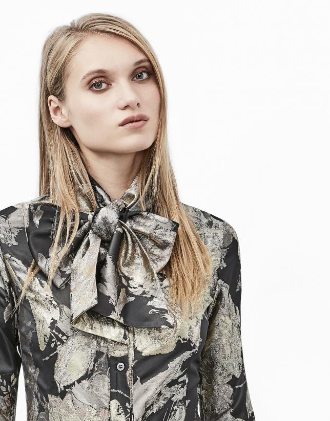 Gilded jacquard shirt