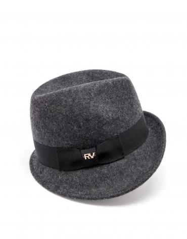 Gray short brim hat
