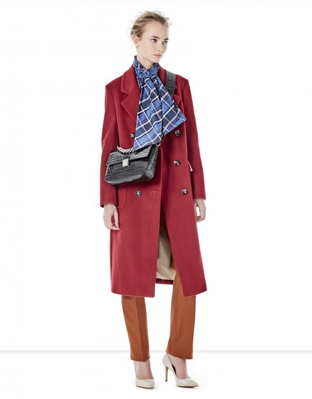 Roberto verino abrigo rojo