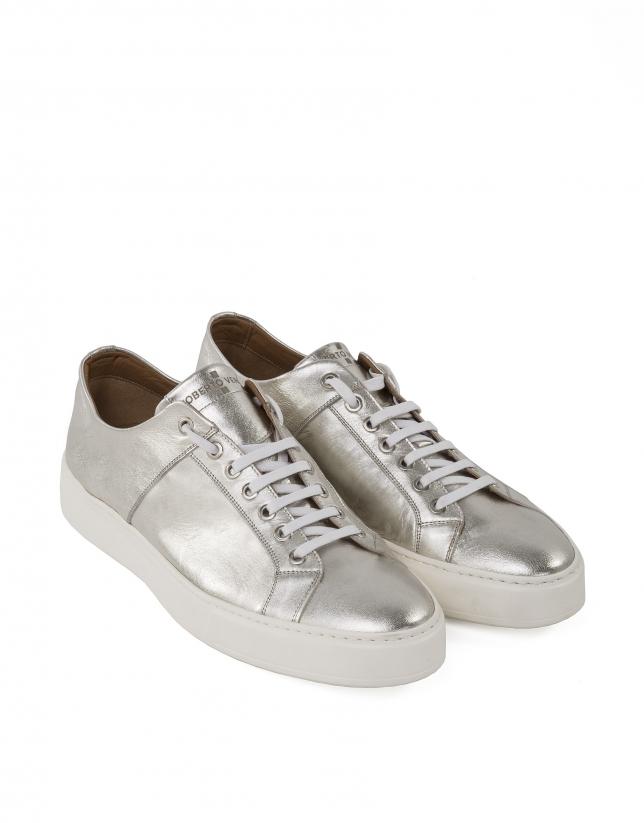 Sneakers effet or