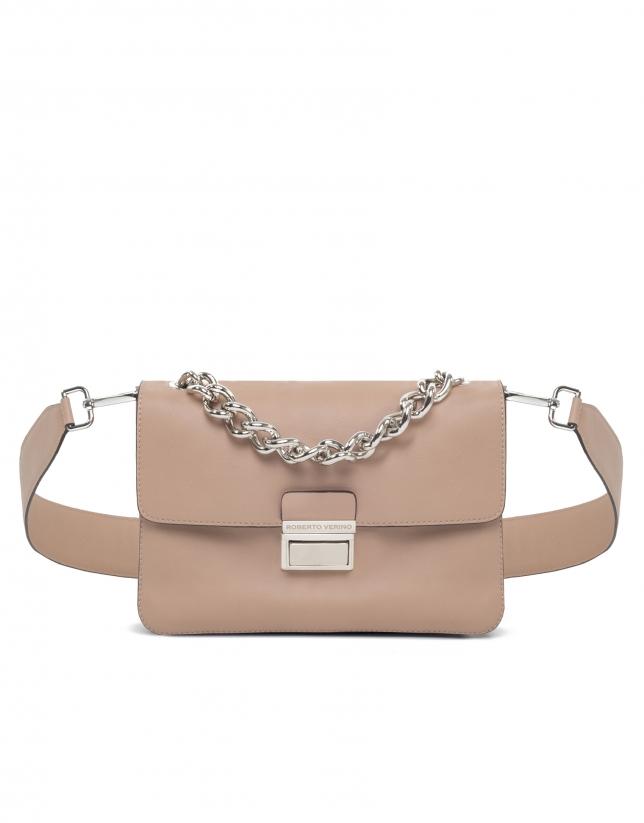 Beige leather Joyce purse