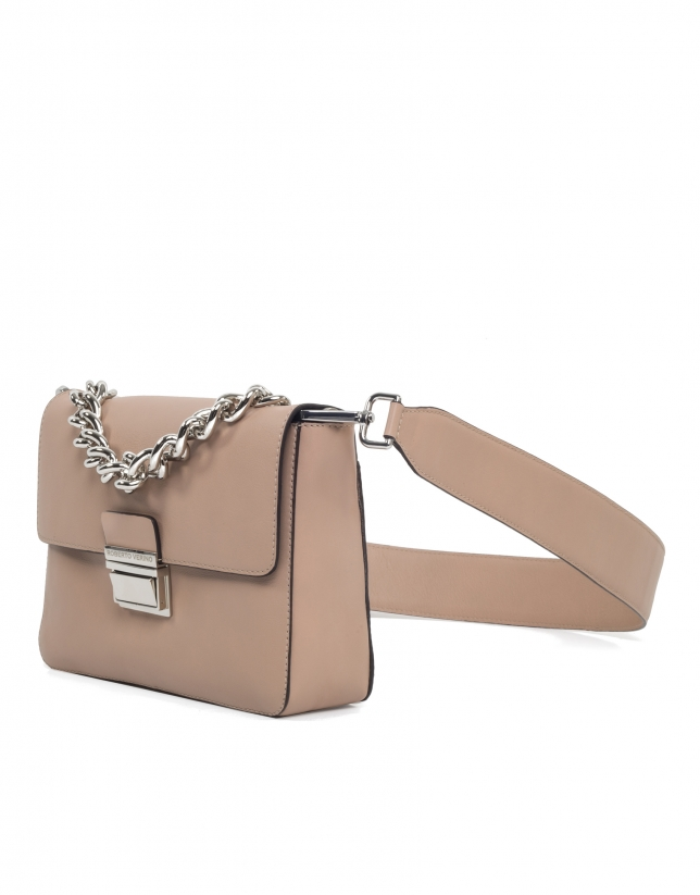 Beige leather Joyce purse