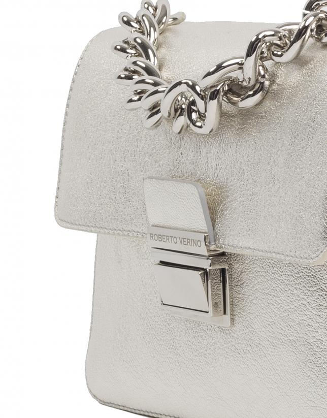 Bolso cartera piel metalizada Joyce